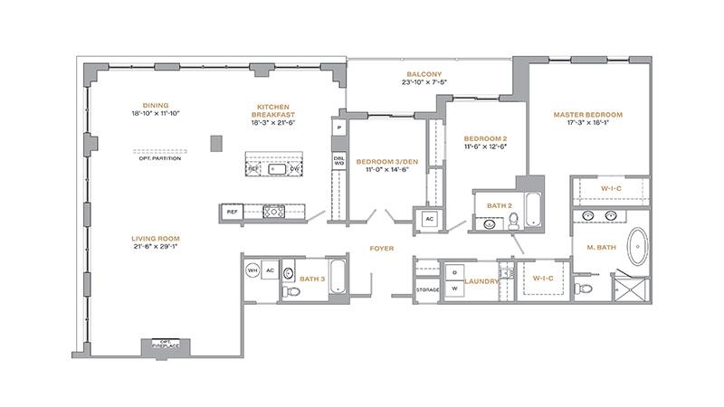 403 - 2,622 SF • 3 Bedrooms • 3 Baths