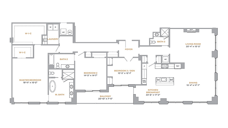 405 - 2,675 SF • 3 Bedrooms • 3 Baths