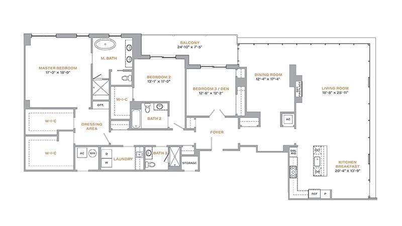 501 - 2,754 SF • 3 Bedrooms • 3 Baths