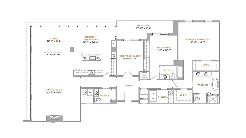 503 - 2,572 SF • 3 Bedrooms • 3 Baths