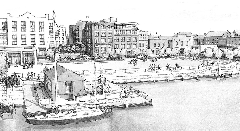 Rendering is an artist's interpretation of the City of Alexandria's Waterfront Plan.