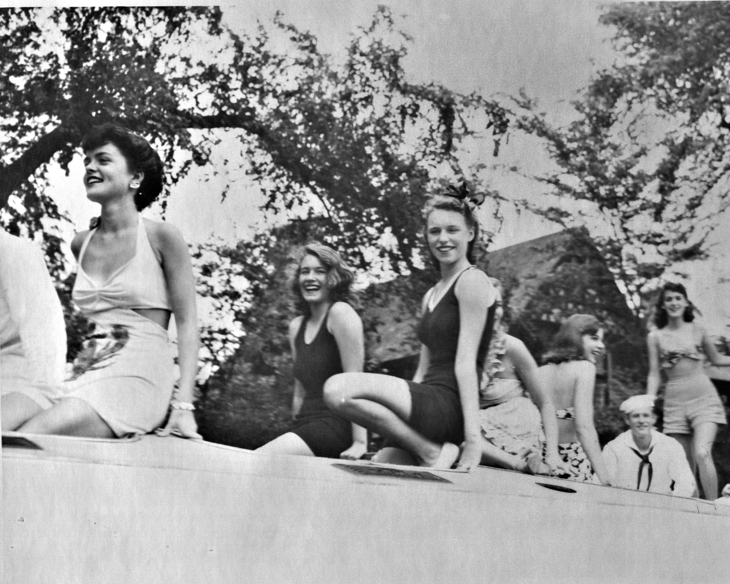Bathing beauties float, LVIS 50th anniversary