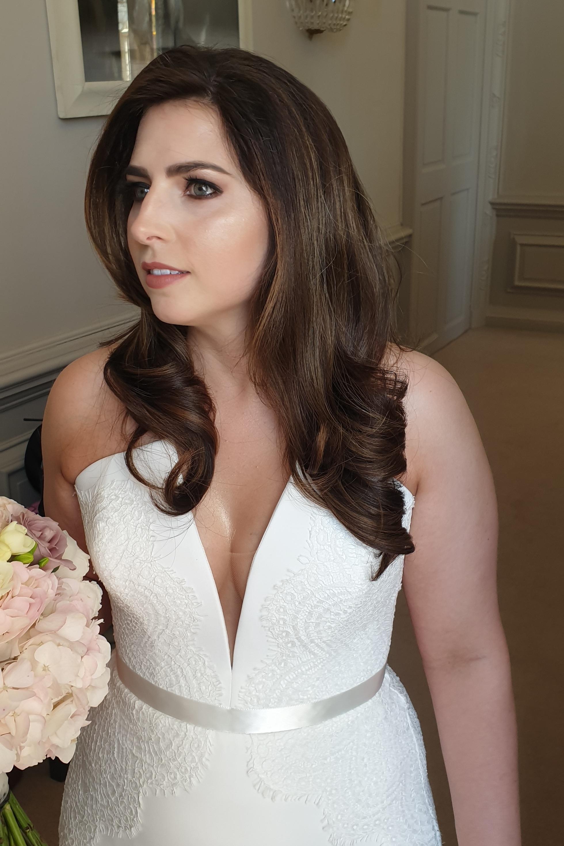Wedding Hair at Howsham Hall Yorkshire