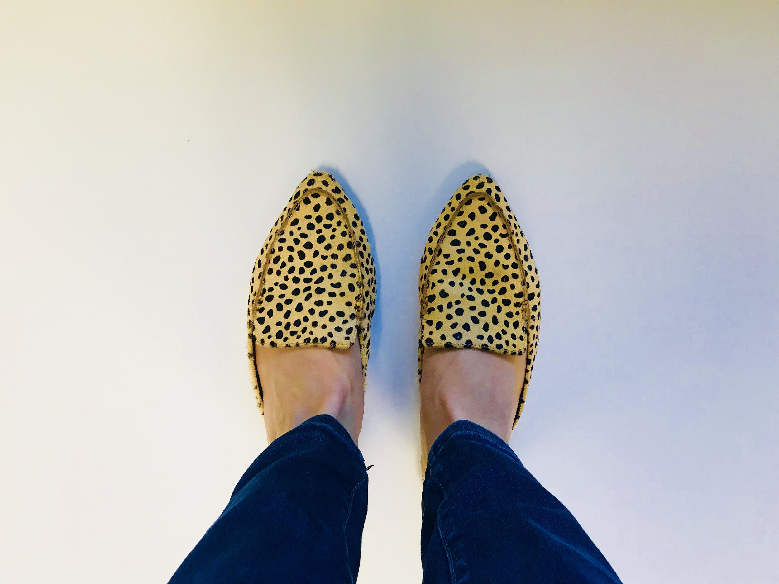 1. Cheetah Mules - My latest Second Chance Consignment Shop find. These were originally $10 & I used a 20% off coupon I got from their email. Sign up for their email list on their website for monthly coupons!Price: $8Second Chance Consignment Shop