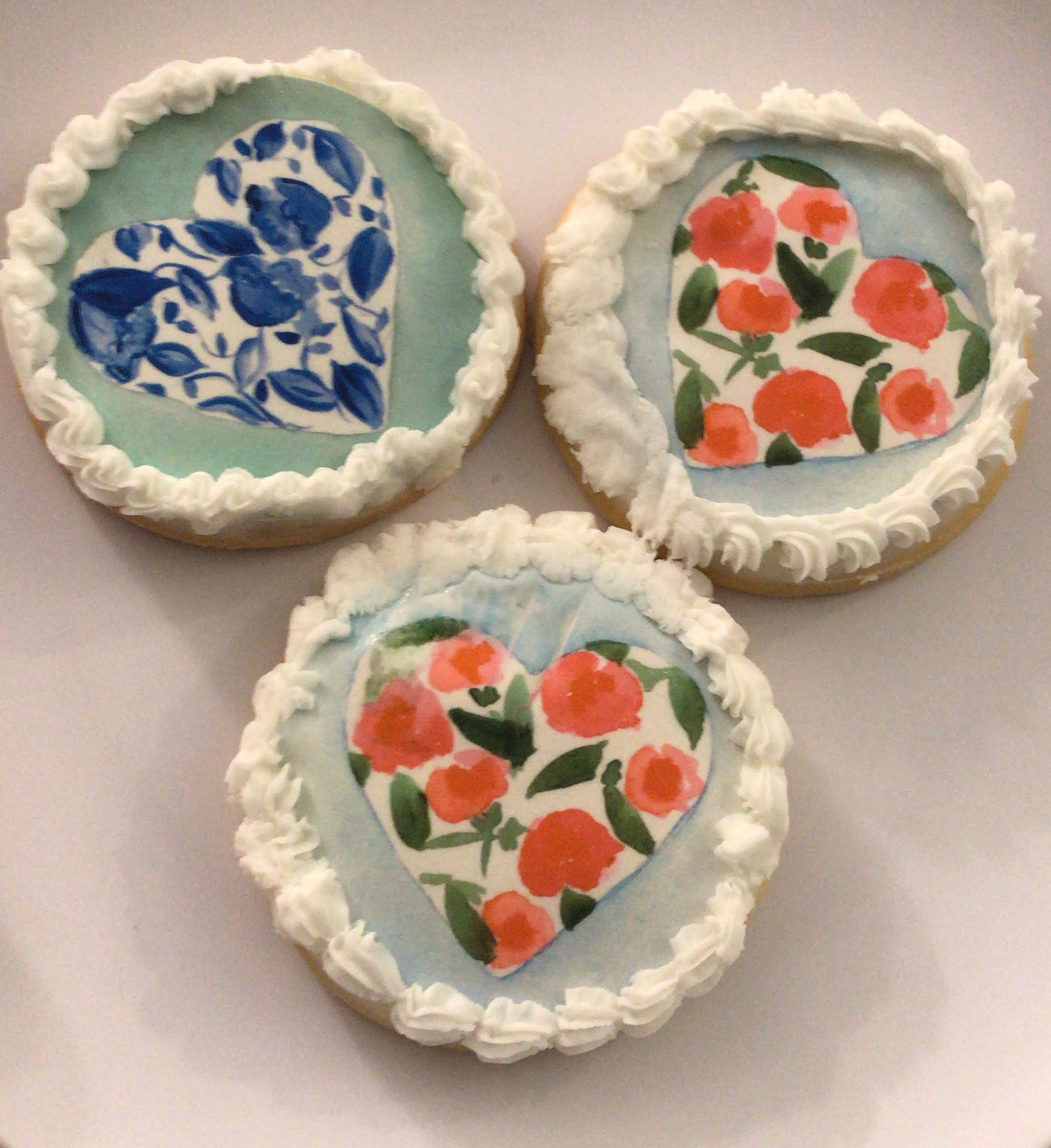 4. Galentine's Day Treats - Picked up cookies for a Galentine's Day party from Tremont Goodie Shop. Watercolor heart cookies with design made my local designer bekka: see what i sea designs.