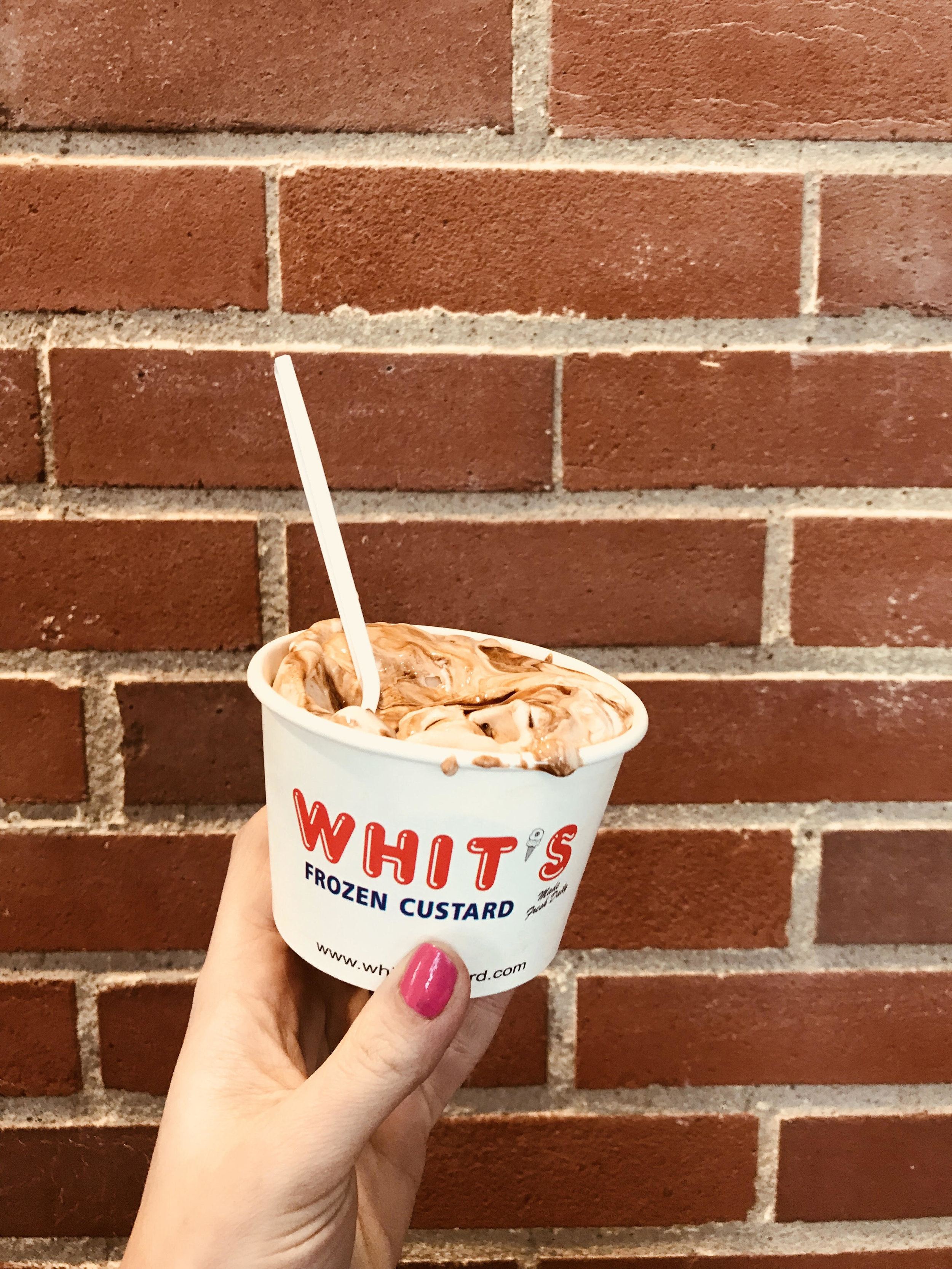2. Dessert that's under $3. - One thing I love about my hometown is you can get dessert for under $3. Buckeye frozen custard from my favorite dessert spot - Whit's!