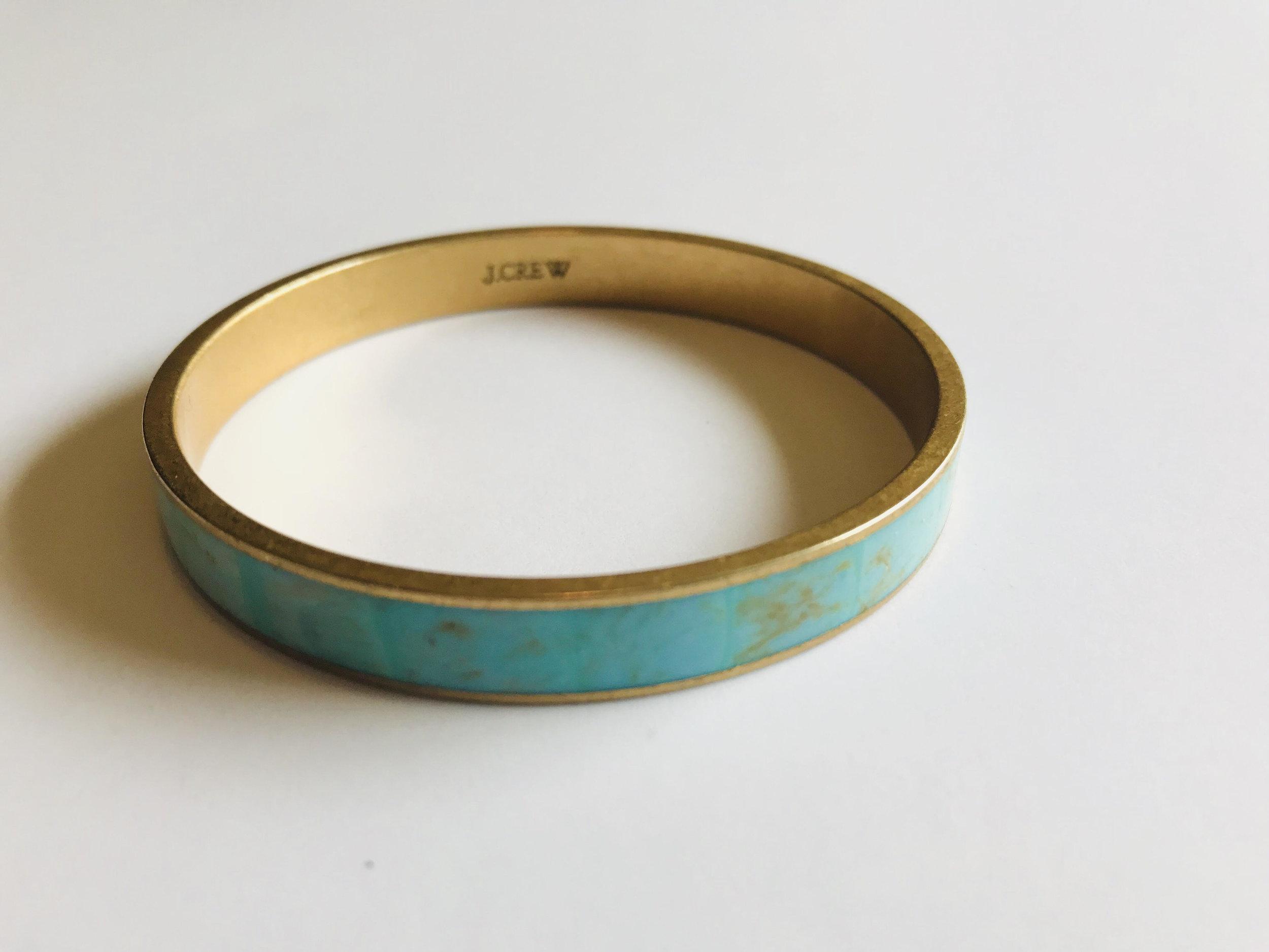 2. Turquoise Bracelet - Price: $6Brand: J. CREW