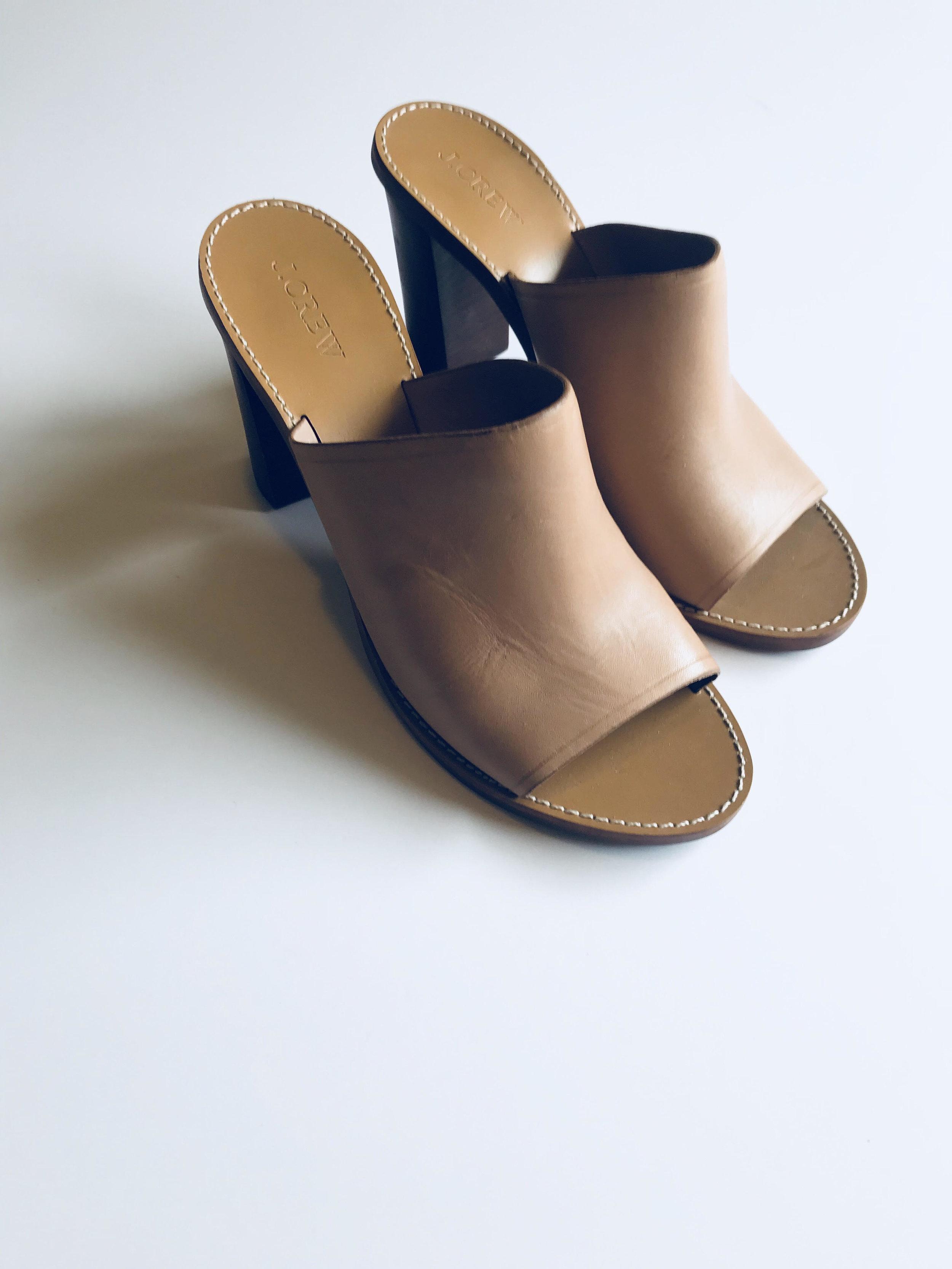 3. Block Heel Mules - Price: $17Brand: J. CREW