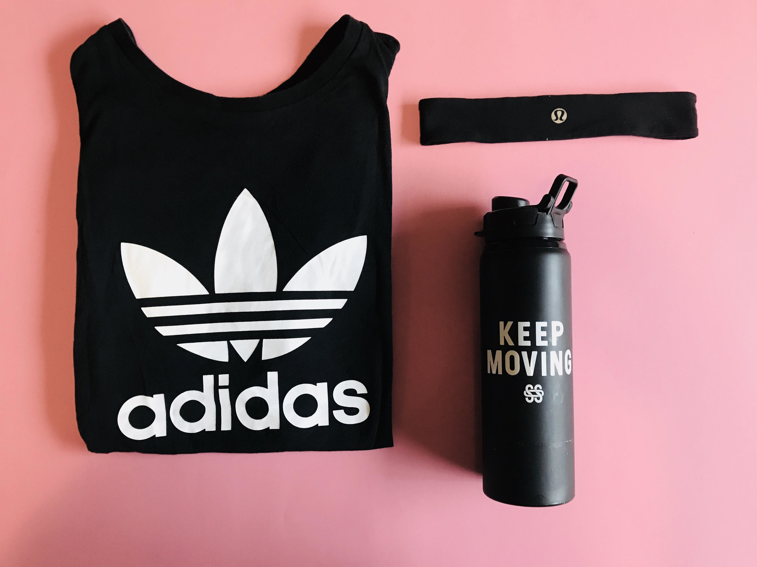 Adidas shirt - $4 -  Second chance consignment shop /  lululemon headband - $8 -  second chance consignment shop