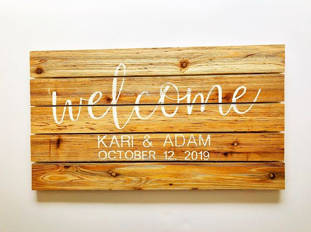 Savings tip for #WeddingWednesday - enlist the help of crafty friends! I love welcome signs, but they can be expensive to have made. I found this wood block @michaelsstores & used a 40% off coupon to get it for around $10. My creative friend @amandaschro used her @officialcricut for the letters, stained it, and now we have a beautiful budget-friendly welcome sign for our guests - thanks Amanda!