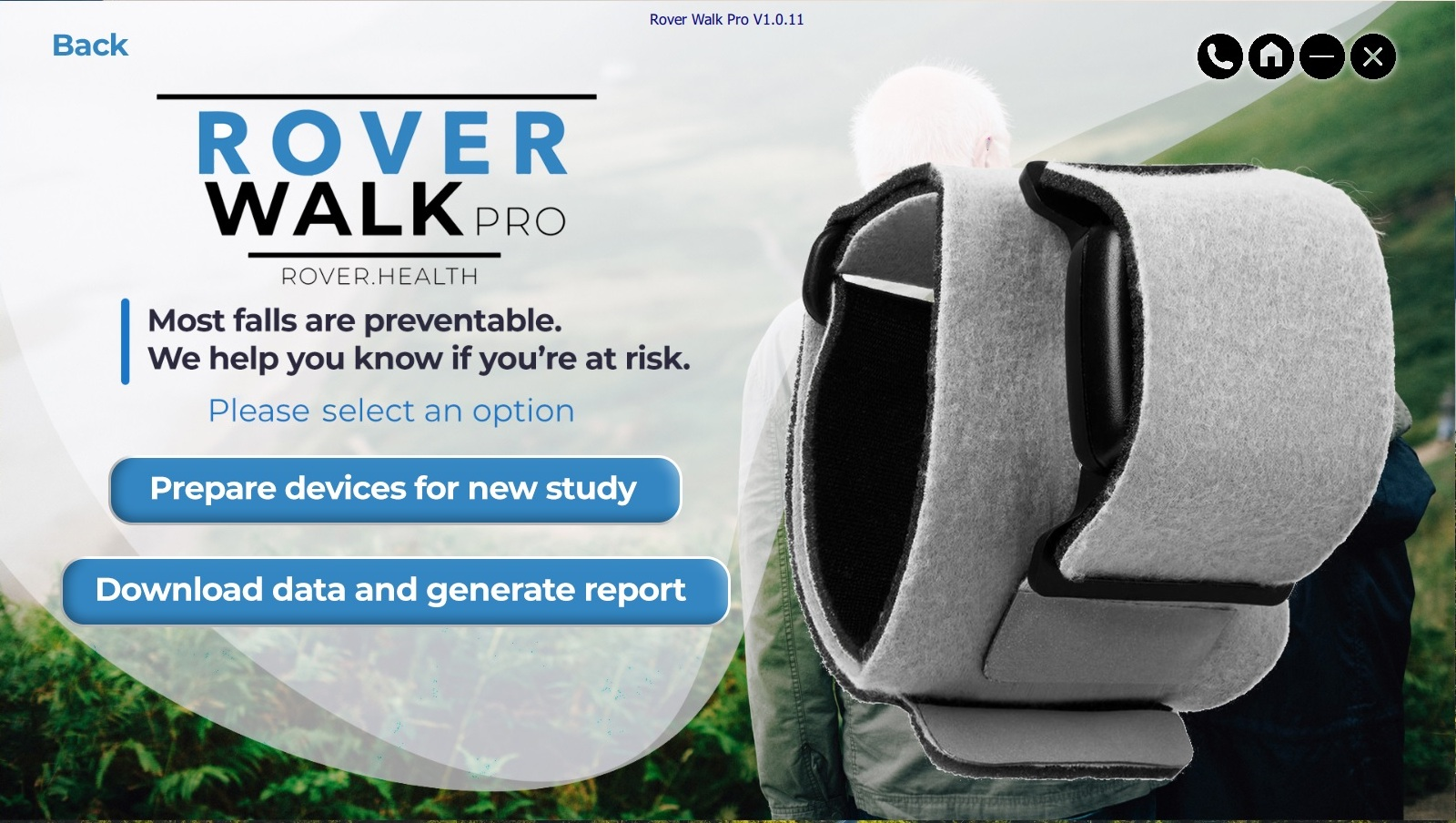 Rover Walk Pro - Rover Walk Pro is a comprehensive gait analysis and fall risk assessment software designed for use in Senior Living facilities, Clinical Trials, and human motion research.
