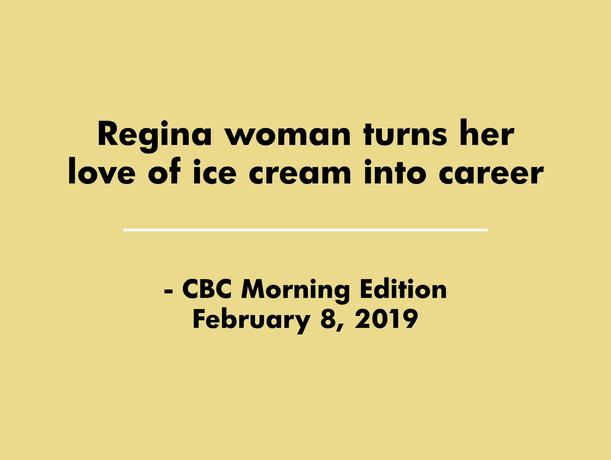 CBC Morning Edition Feb. 8, 2019