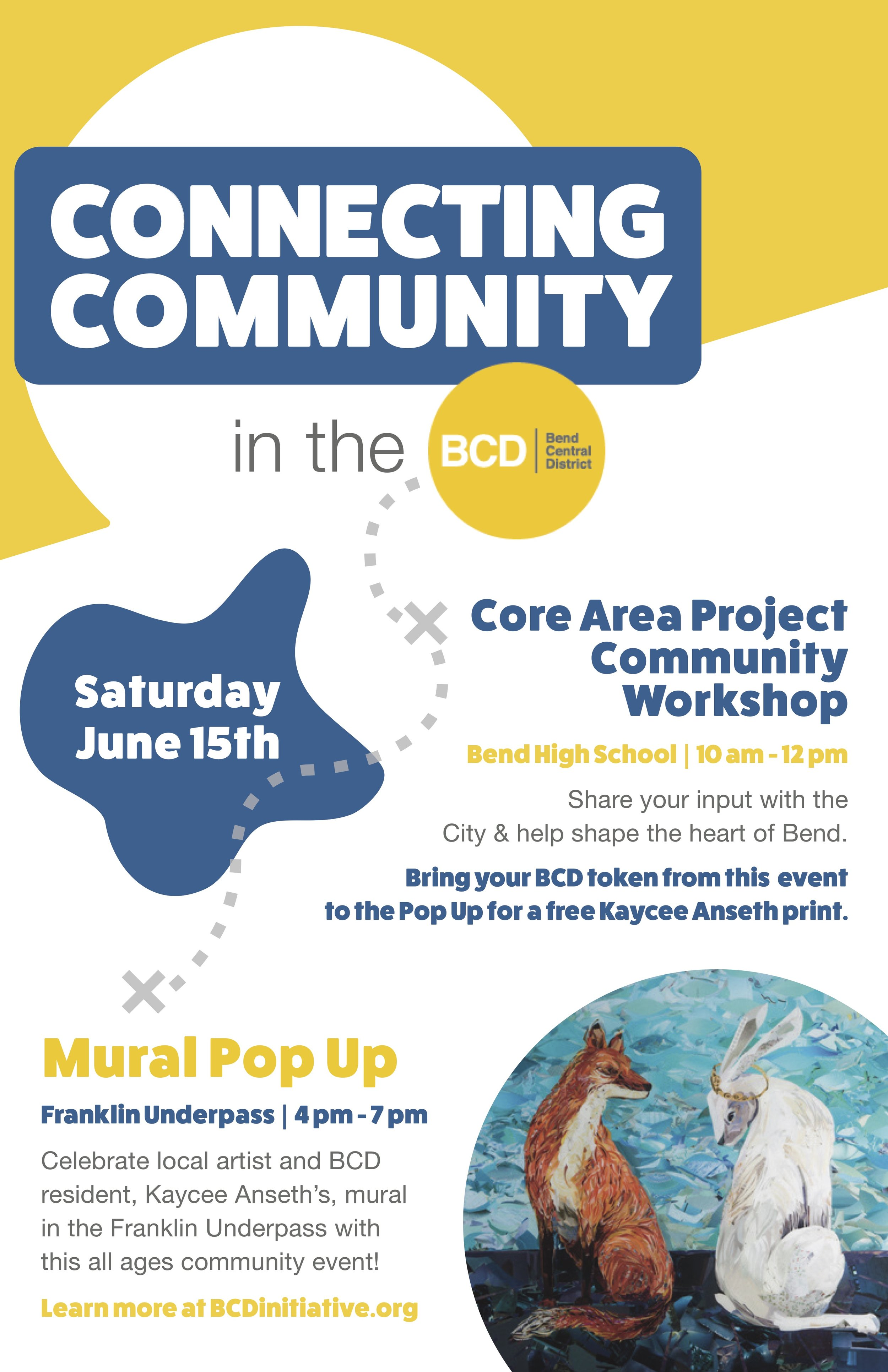 The #ProjectUnderpass Pop Up Event was initially designed to help the community celebrate art installation by Kaycee. Unfortunately the actual installation was postponed, but the community still showed up to the event to share their vision for the area and celebrate the community that does exist there.