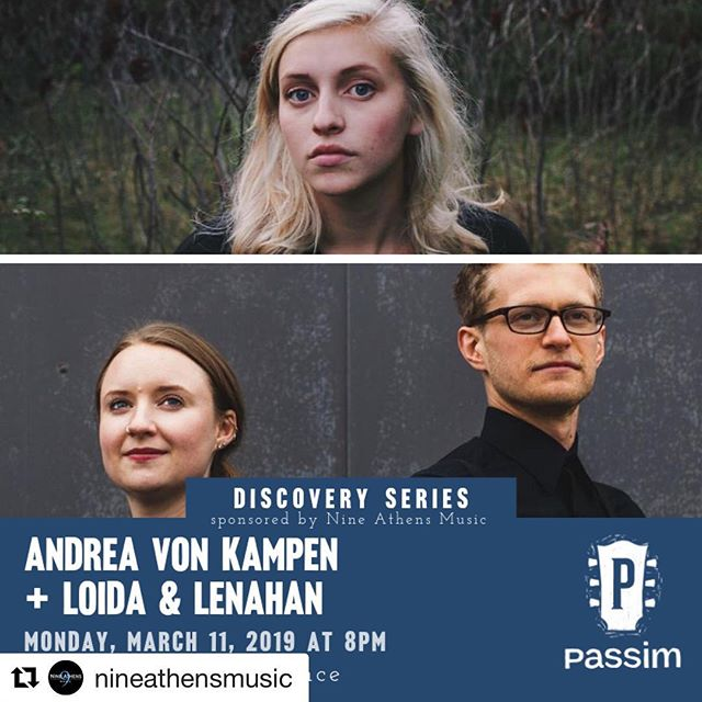 Joining @andreavonkampen this Monday for our debut @clubpassim show at 8PM!  Thanks @nineathensmusic for having us 🙌🏼🥰. #synth #vibes #vocals #discoveryseries