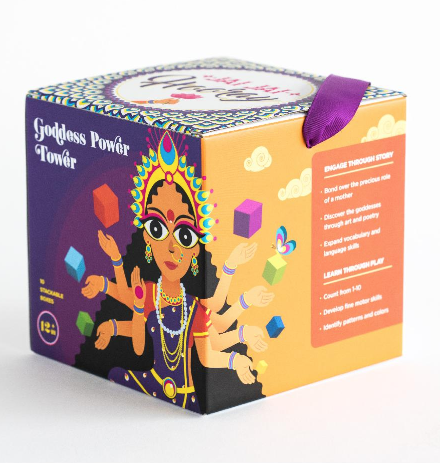 I did product and package copy for Jai Jai Hooray's Goddess Power Tower as well as content strategy.