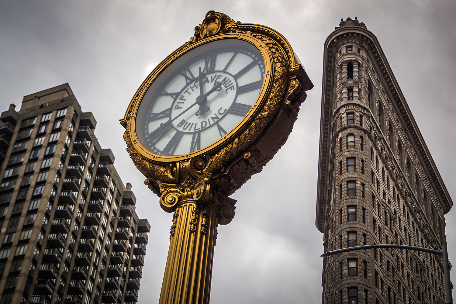 The clock of Flatiron buidling