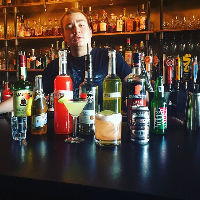 #tbt to way back when @mitched_reviews from @shakeysgetaway changed bartending forever with his guest spot behind the bar @rhubarbavl #mountaindewdaiquiris