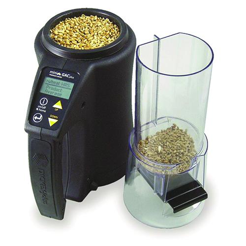 MINI GAC PLUS - Analizador portátil de humedad y peso del grano.