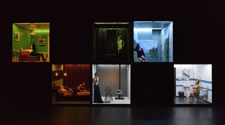 """Photo: Michael Slobodian  Spectacle: """"La fureur de ce que je pense"""", Texte : Nelly Arcan (collage), adaptation et mise en scène: Marie Brassard"""