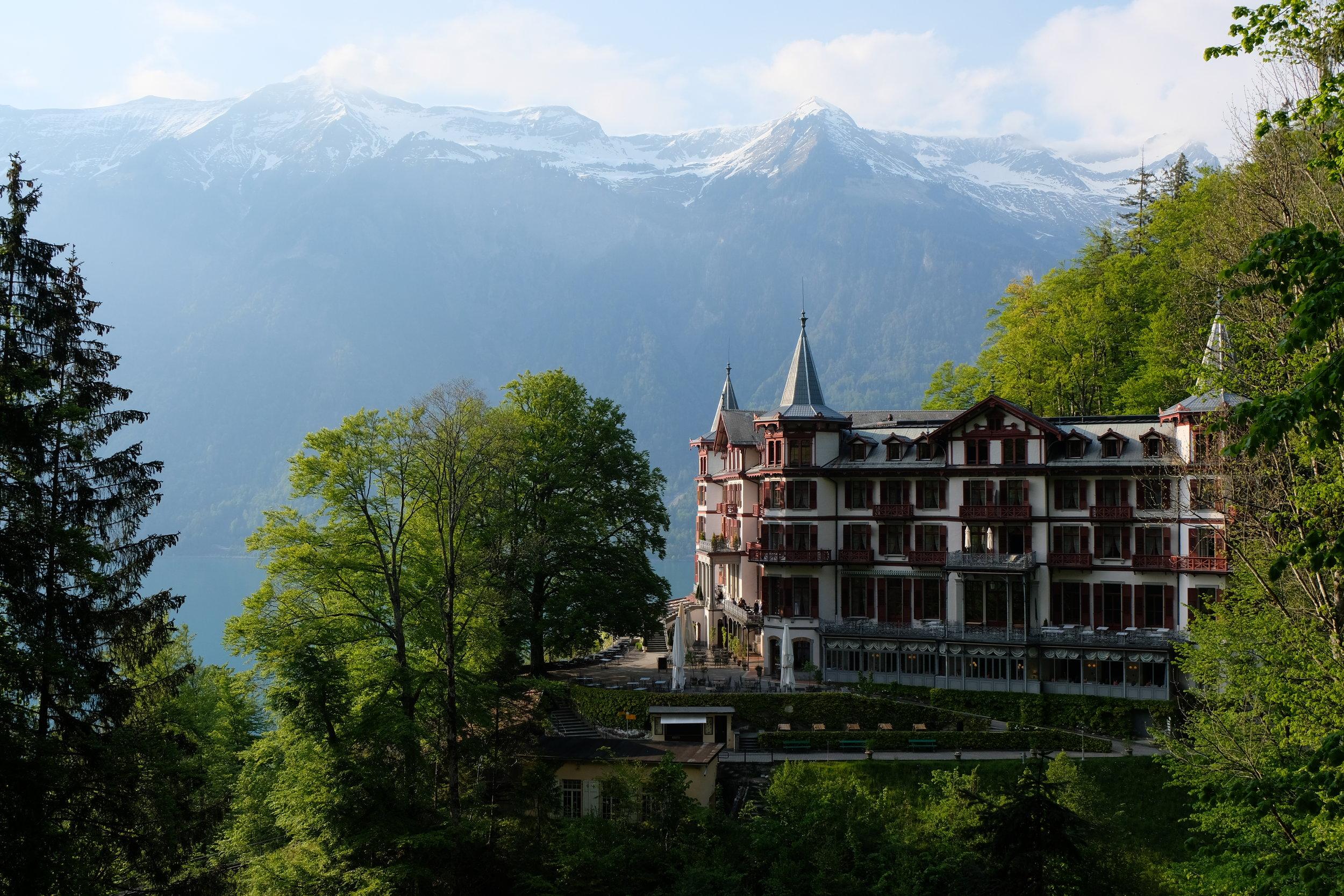 The beautiful Grandhotel Giessbach
