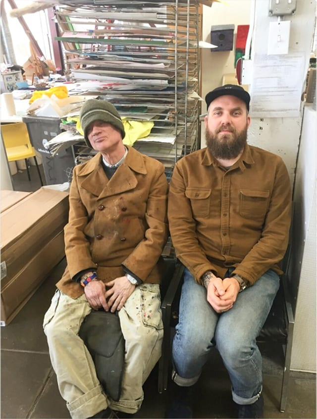 Copy of Studio-Manager-Matt-Dostal-and-artist-Tony-Pedemonte-at-the-end-of-the-day-in-the-studio.jpg