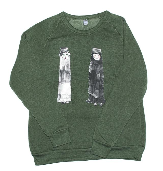 Sweatshirt design by Creative Growth artist  Aurie Ramirez