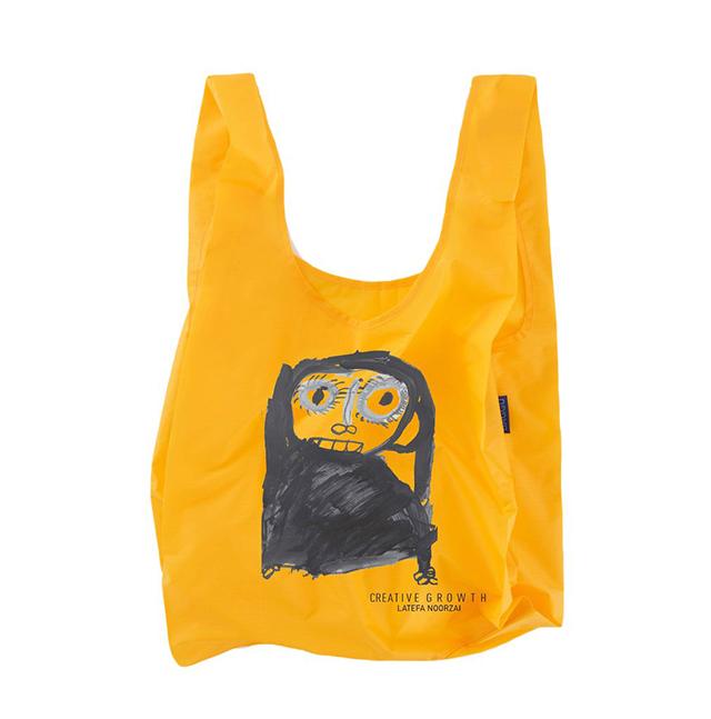 Baggu shopping bag with design by  Latefa Noorzai