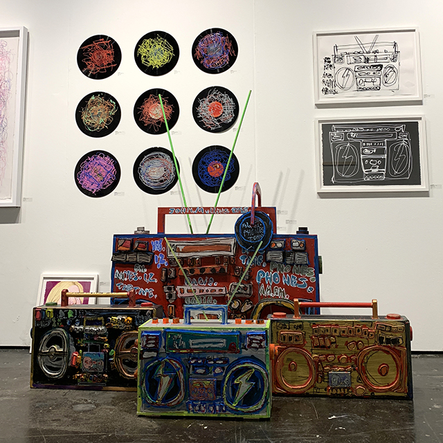 NADA Miami Booth, Featuring John Mullins & Dan Miller, December 2018