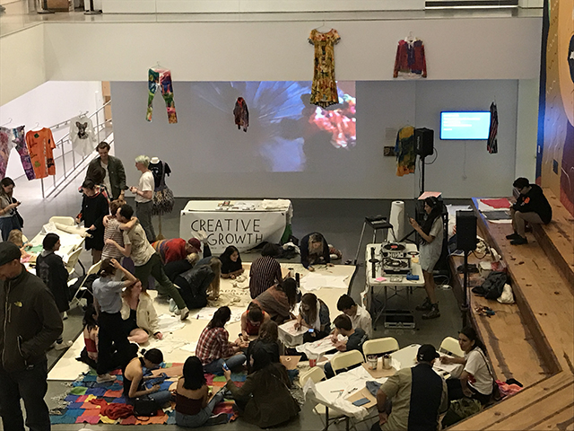 Fabric Marker Jam at BAMPFA, February 9, 2018