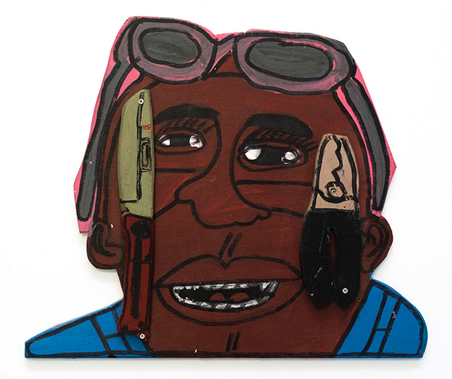John Martin, Untitled (JMa 535), 2018, Acrylic on wood, 24 x 20 inches