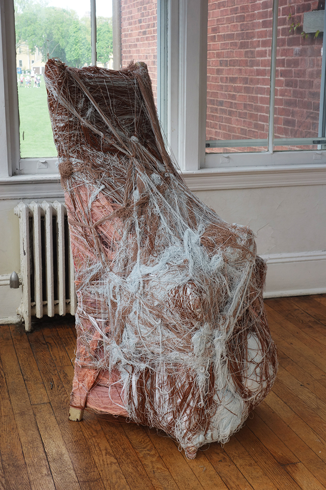 Tony Pedemonte installation at NADA House, Governors Island, Courtesy of New Art Dealers Alliance