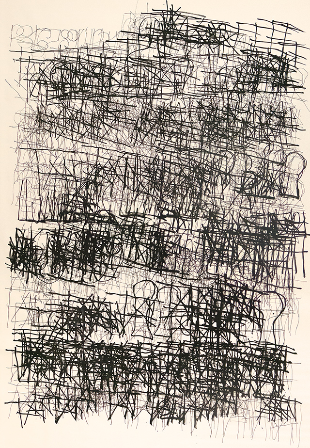 Dan Miller, Untitled (DM 329), 2017, Work on paper, 108 x 144 inches (Creative Growth)