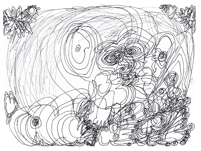 Dwight Mackintosh, Untitled (DMa 336), 1994, Ink on paper, 11 x 15 inches