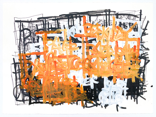 Dan Miller, Untitled (DM 1164), 2019, work on paper, 22 x 30 inches