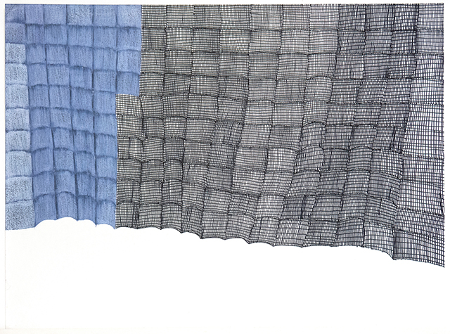 Susan Janow, Untitled (SJ 141), 2014, work on paper, 18 x 24 inches