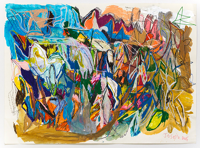 Joseph Alef, Untitled (JA 073), 2018, Acrylic and ink on paper, 22.25 x 30.25 inches