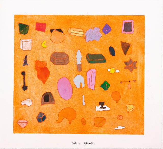 Carlos Fernandez, Untitled, 2019, Etching, 17.5 x 19.25 inches