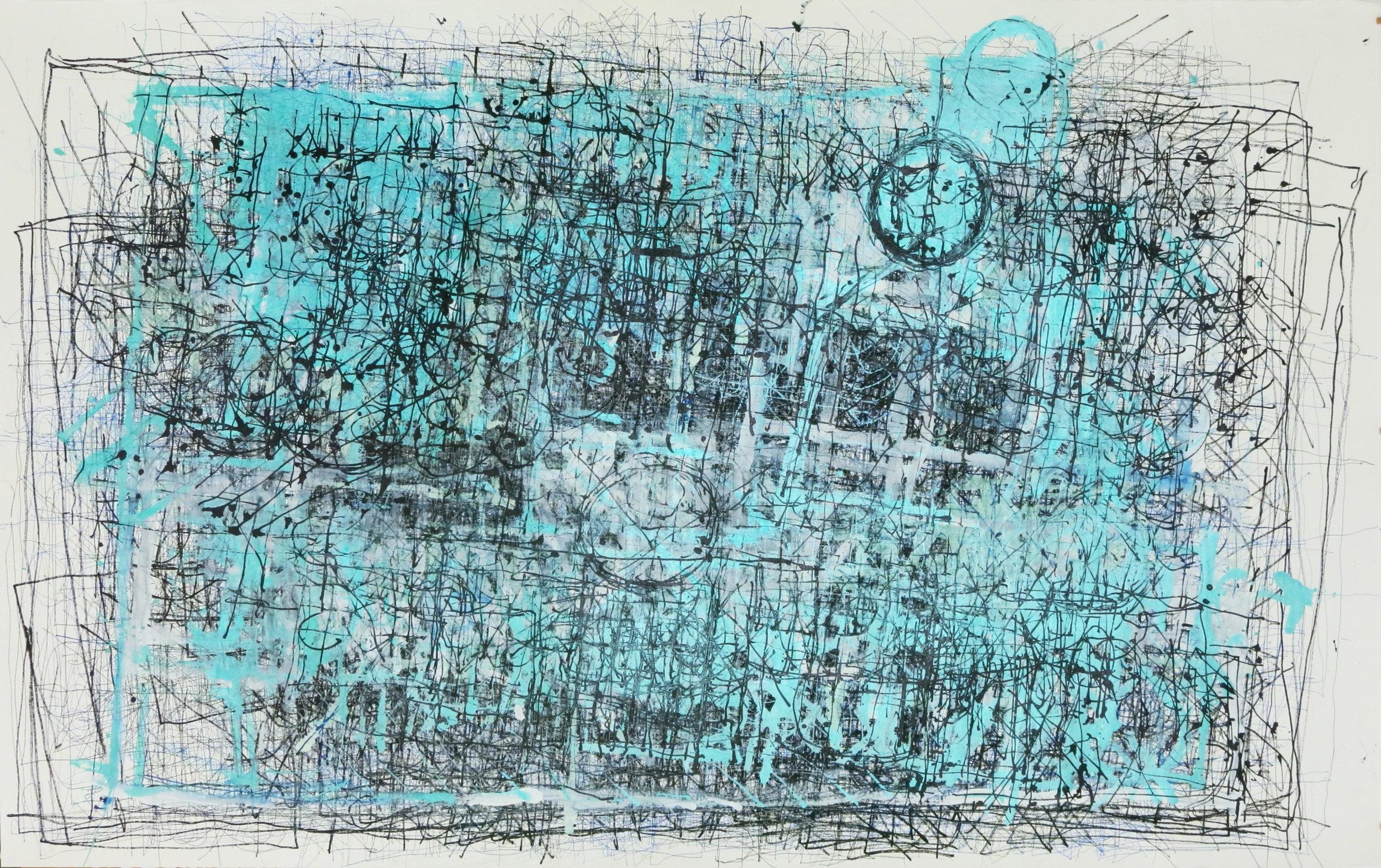 Dan Miller, Untitled (DM 254), 2016, 52 x 85 inches