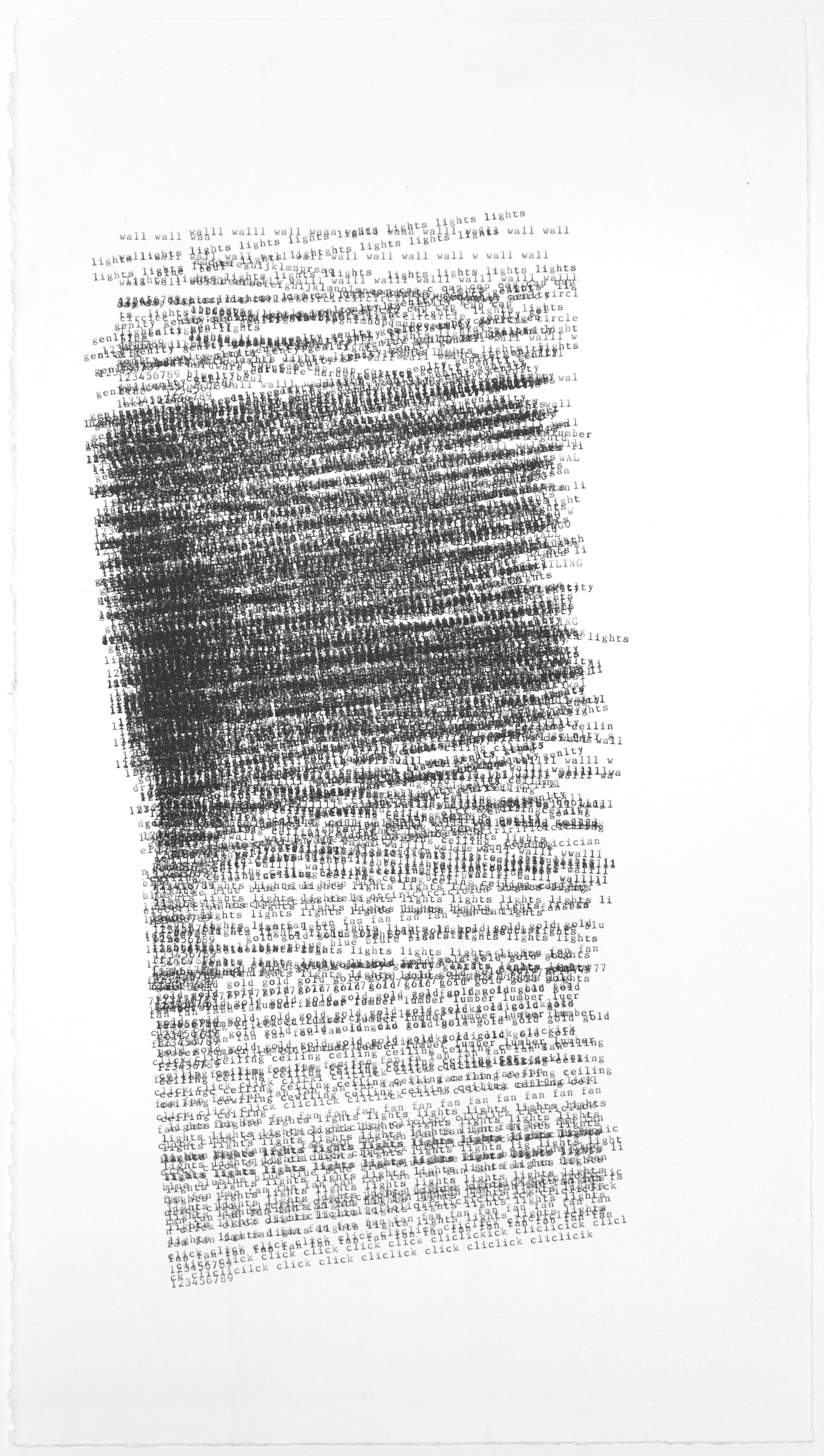 Dan Miller, Untitled (DM 987), 2018, 10 x 20.125 inches