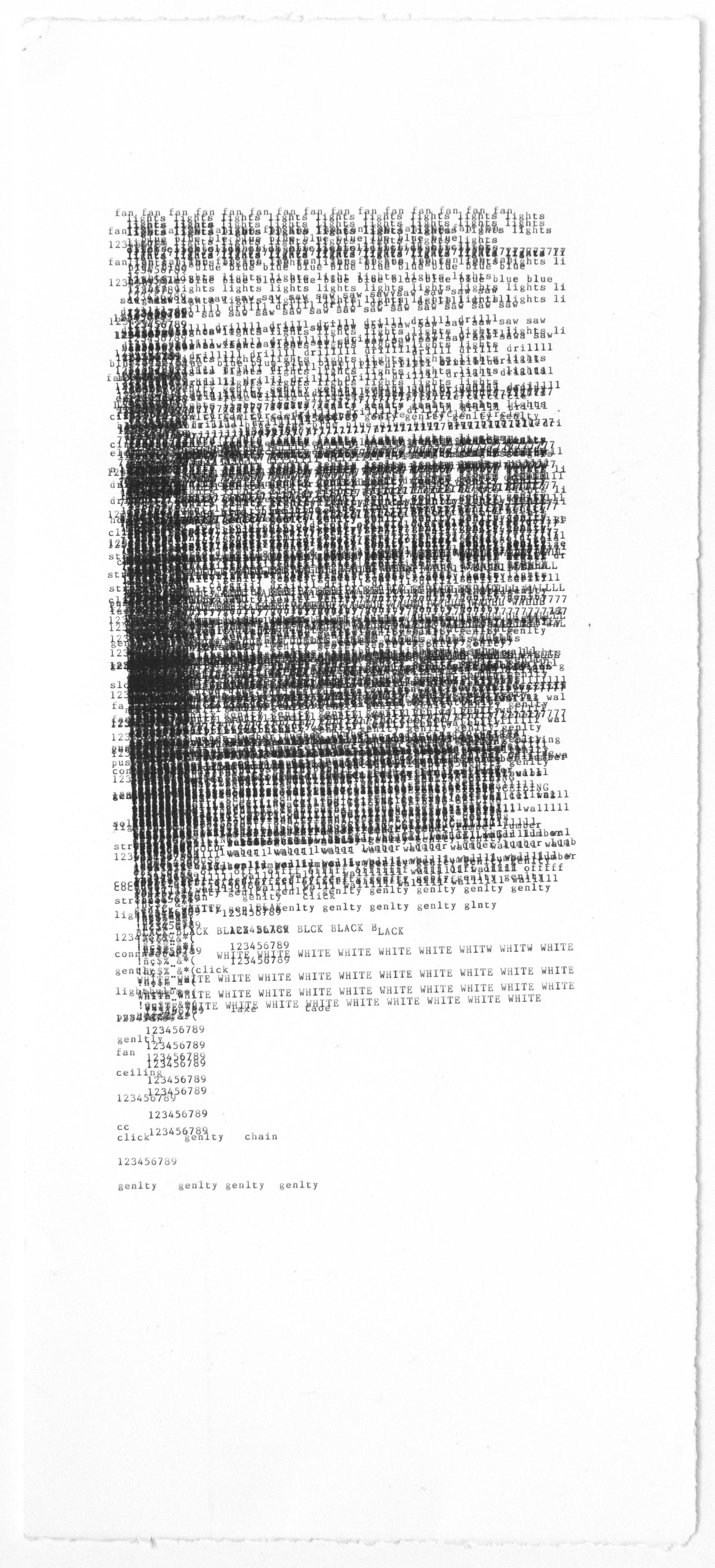 Dan Miller, Untitled (DM 988), 2018, 10 x 22.5 inches