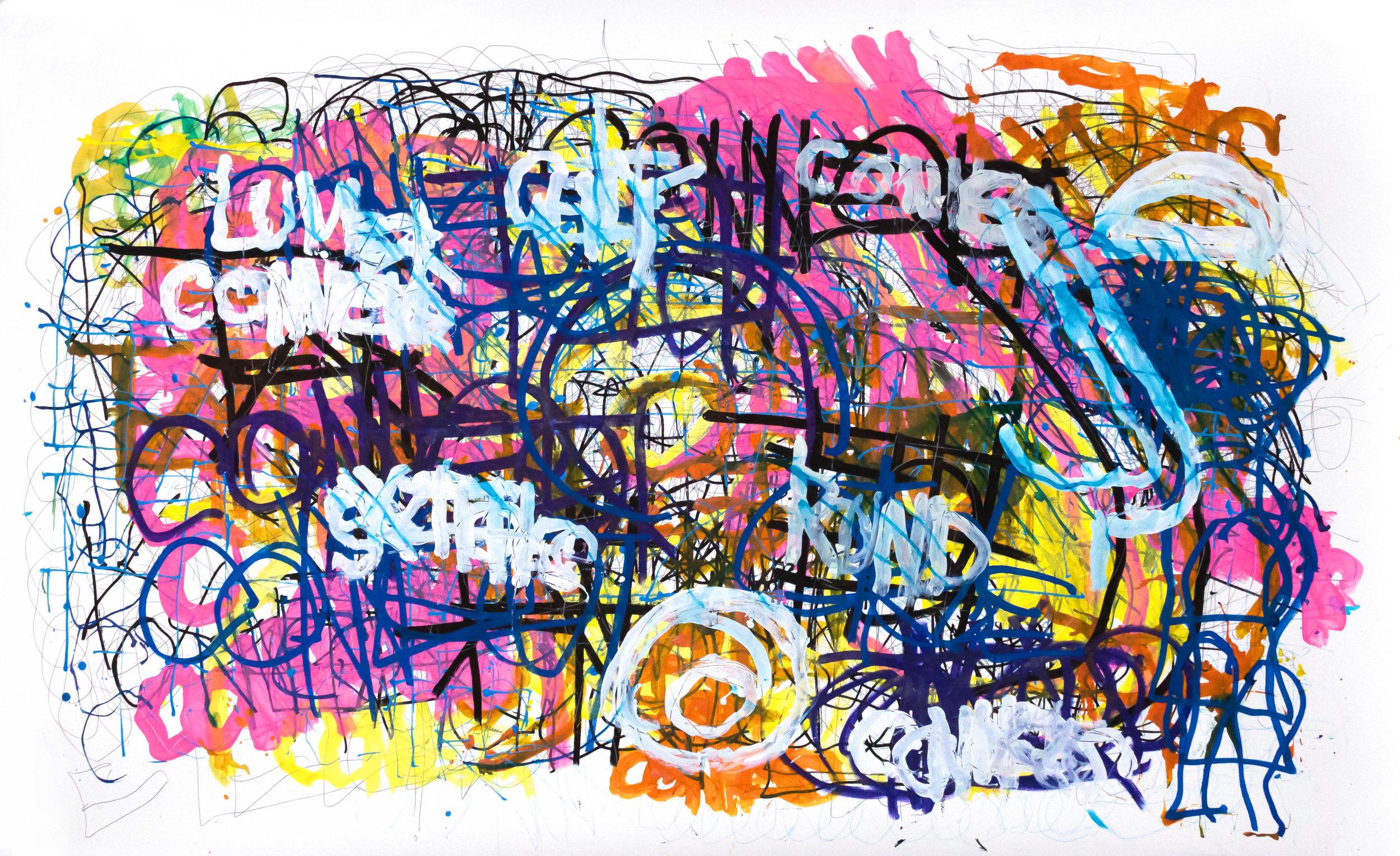 Dan Miller, Untitled (DM 1106), 2019, 36 x 59.25 inches