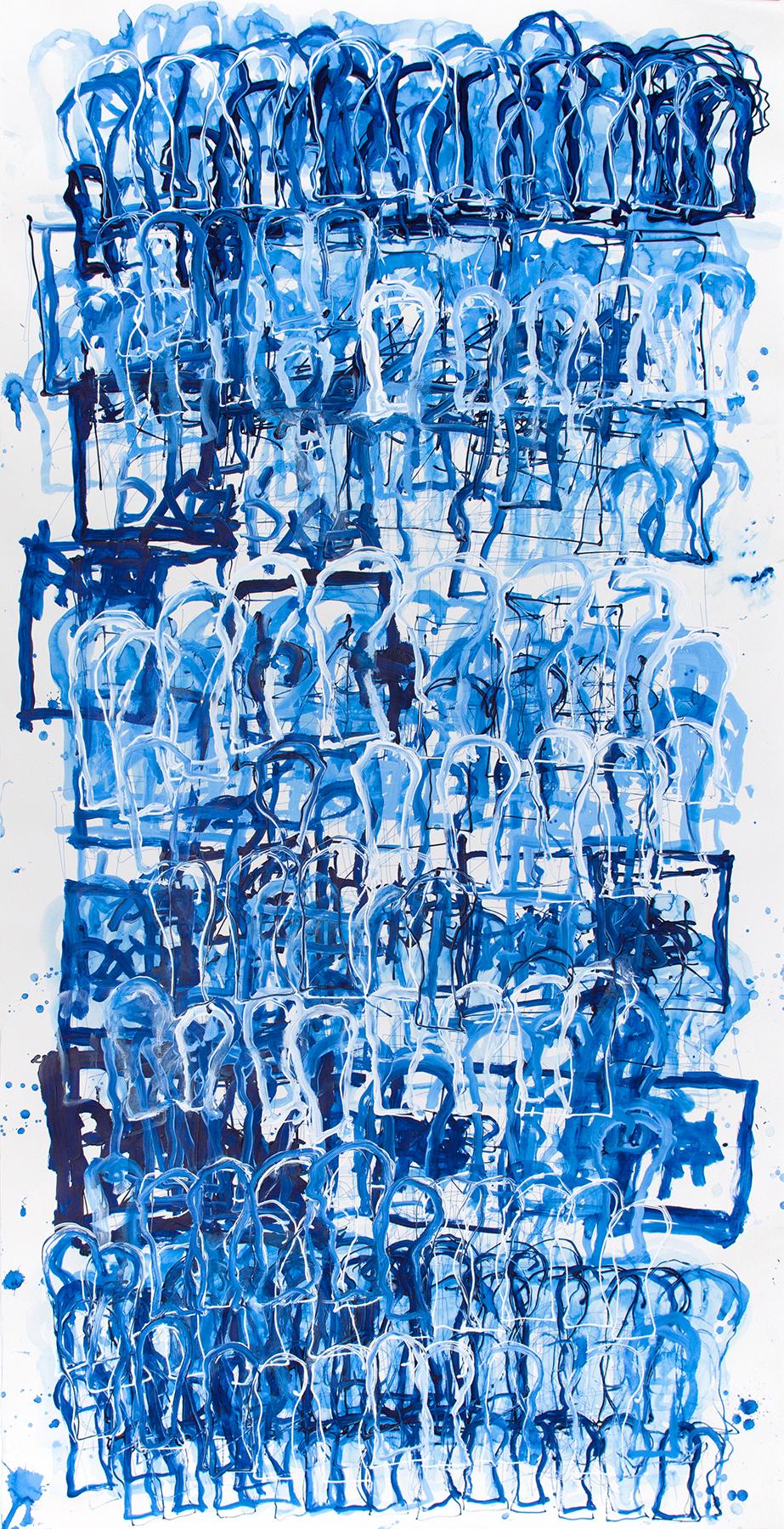 Dan Miller, Untitled (DM 1145), 2018, 56.5 x 108.5 inches