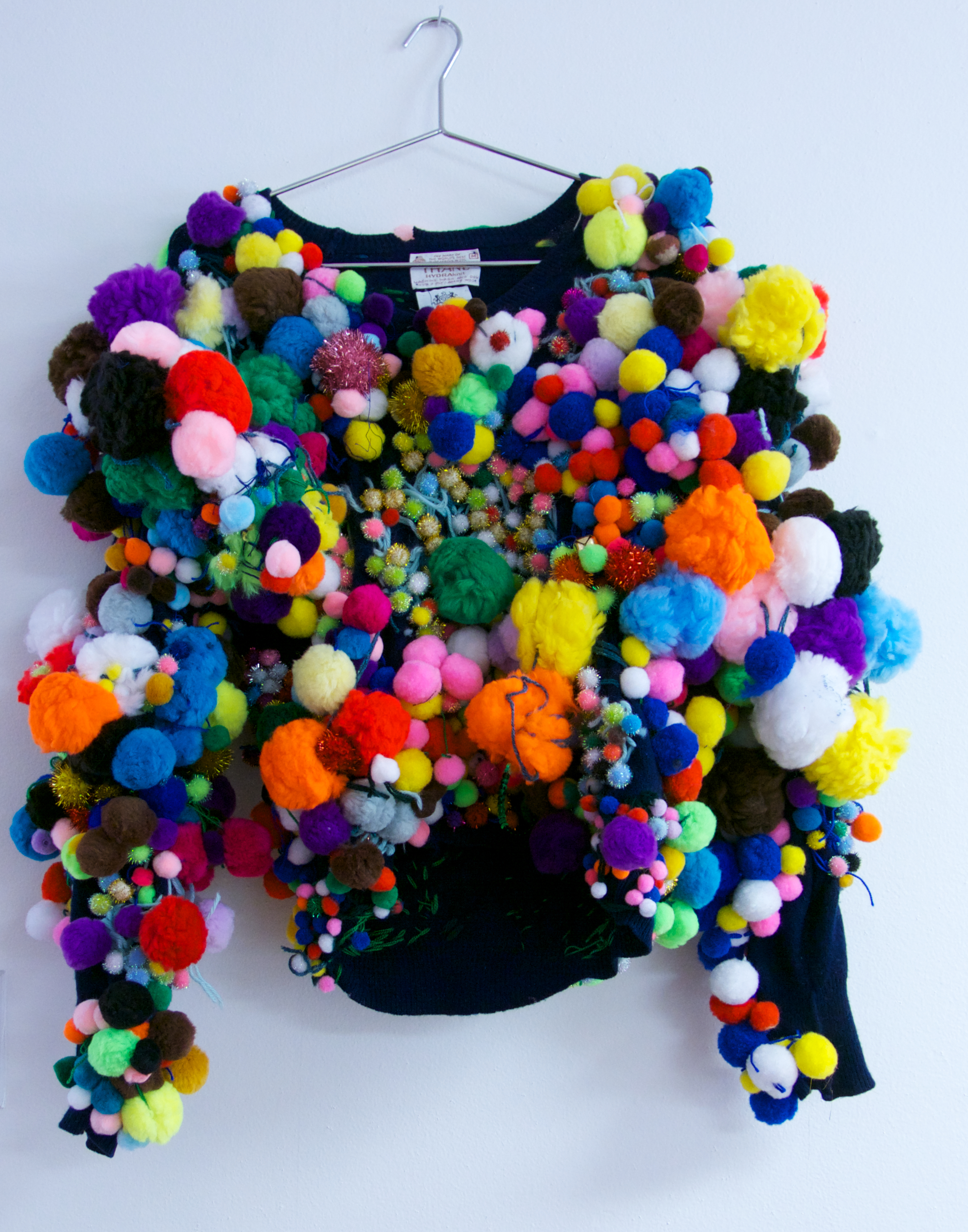 Maureen Clay, Untitled (MC 186), 2017, Pom pom sweater