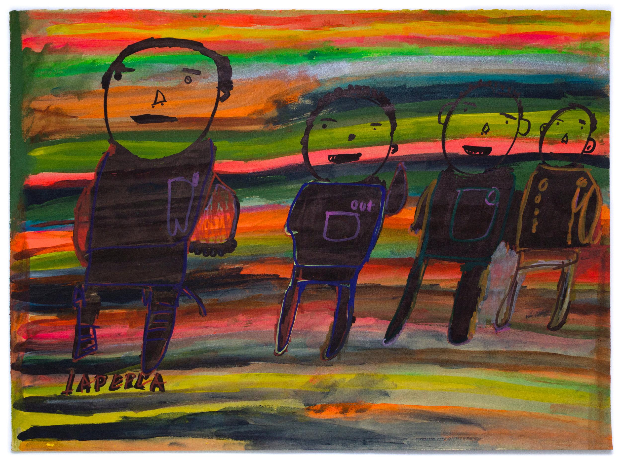 Paulino Martin, Untitled (PM 086), 2017, 22 x 30.25 inches