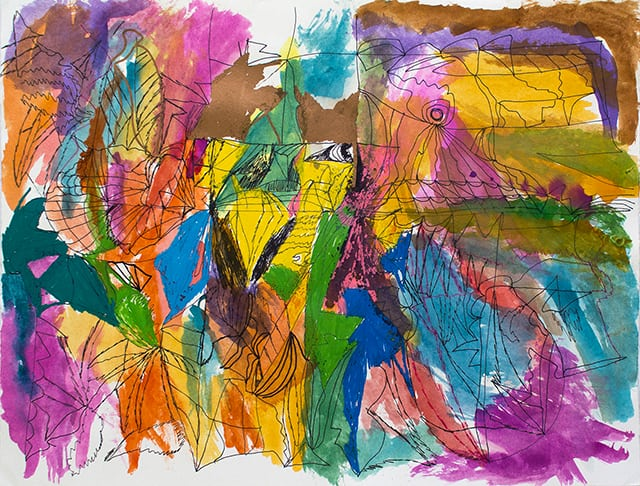 Joseph Alef, Untitled (JA 064), Acrylic and ink on paper, 20 x 26.125 inches