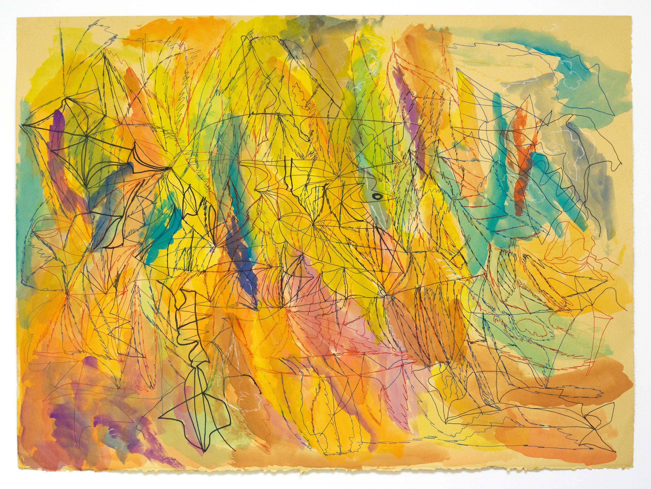 Joseph Alef, Untitled (JA 077), 2018, Work on paper, 22.25 x 30.25 inches