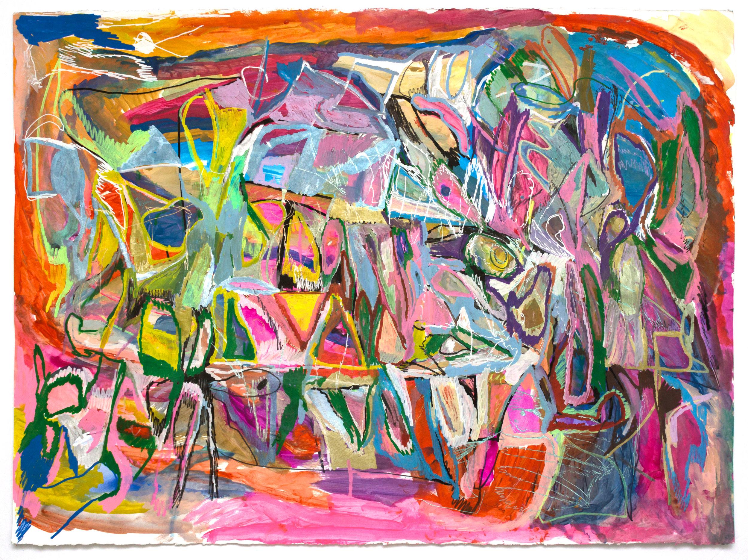 Joseph Alef, Untitled (JA 072), 2018, Work on paper, 22 x 30 inches