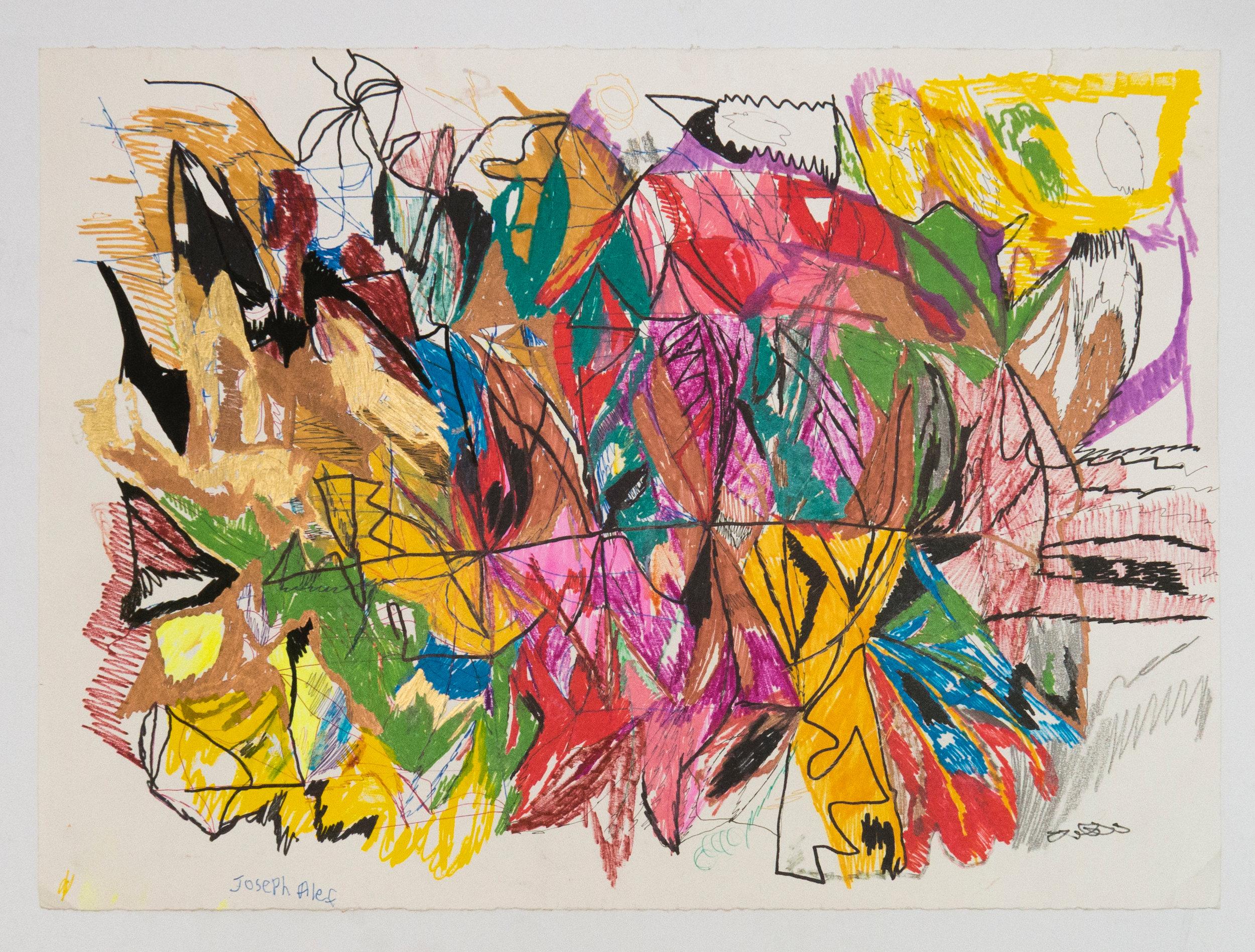 Joseph Alef, Untitled (JA 091), 2015, Work on paper, 22 x 30 inches