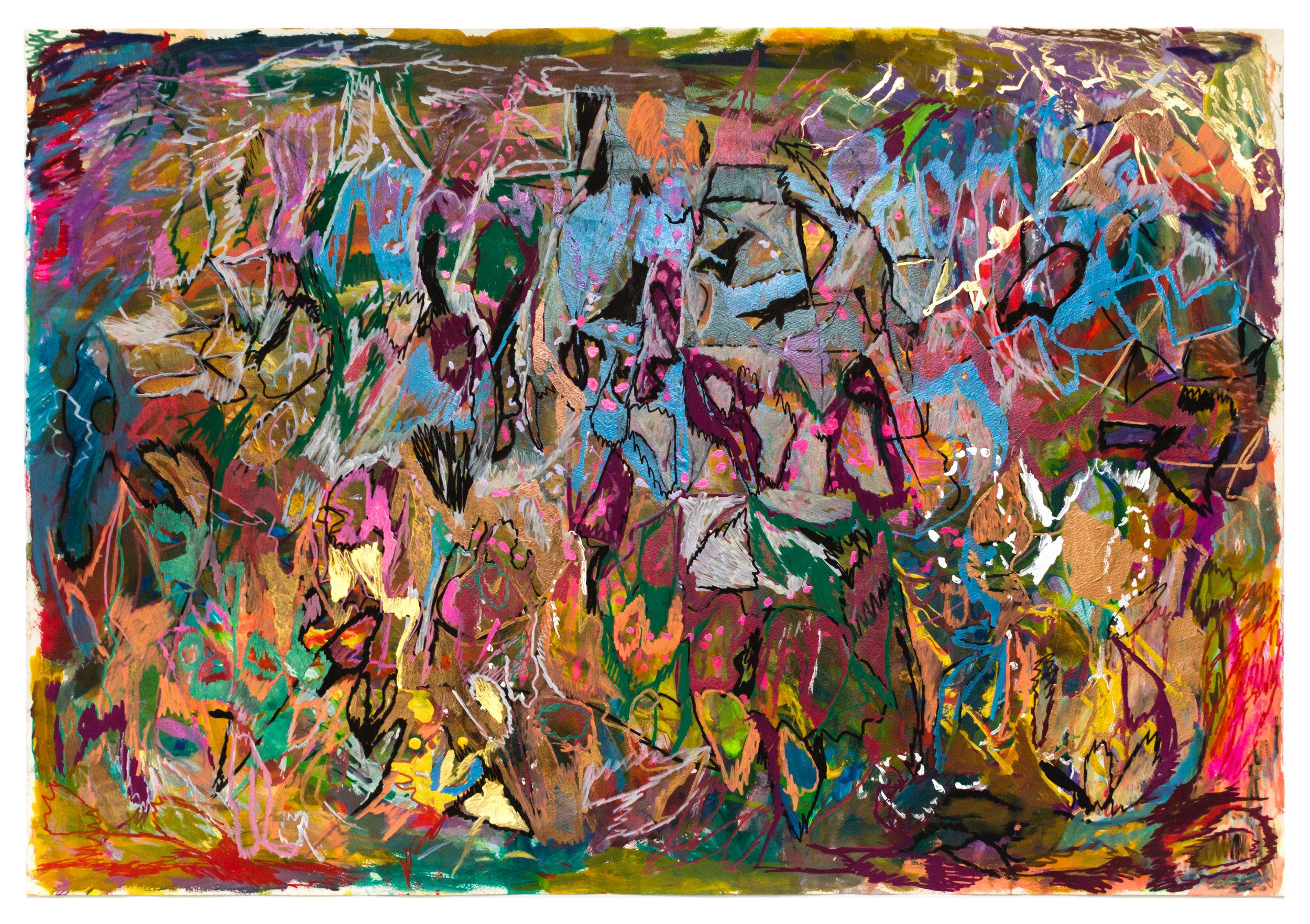 Joseph Alef, Untitled (JA 102), 2018, Work on paper 29.5 x 42.25 inches