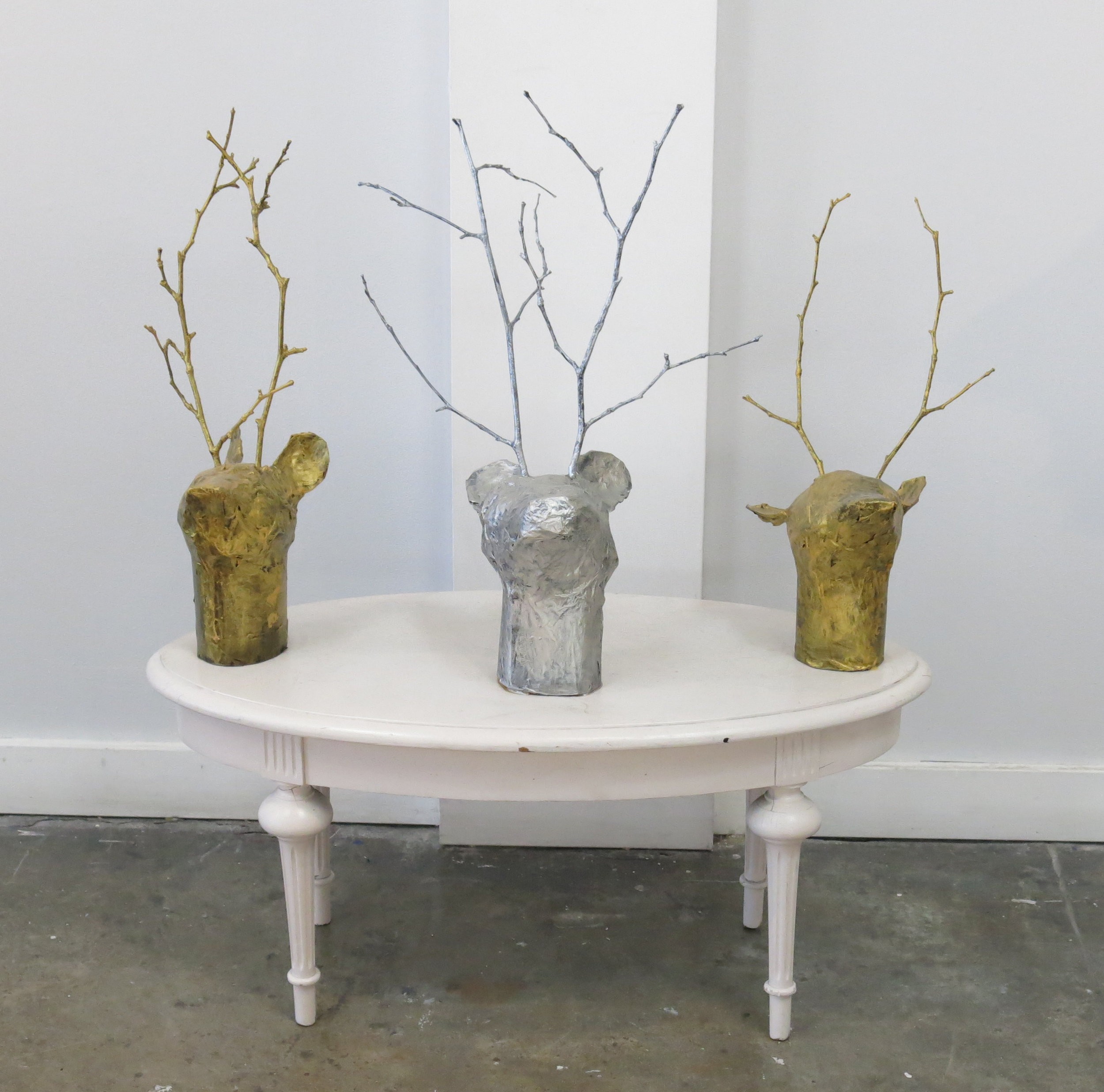 Eleanor Chackee, Untitled (EC 003), 2015, Mixed media, 37 x 35 x 15 inches